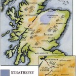 Map of Grant lands in Strathspey